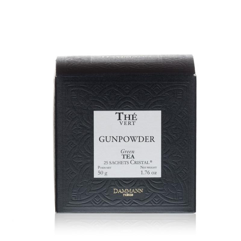Zeleni čaj Dammann Gunpowder, 25 kristalnih vrečk