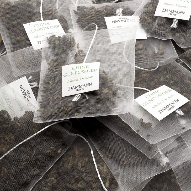 Zeleni čaj Dammann Gunpowder, kristalne vrečke