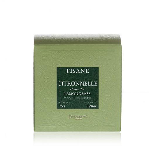 Zeliščni čaj Dammann Citronnelle, 25 kristalnih vrečk