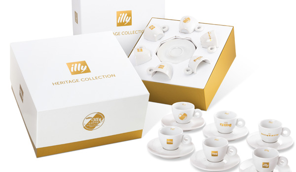 Darilni paket skodelic illy Heritage Collection