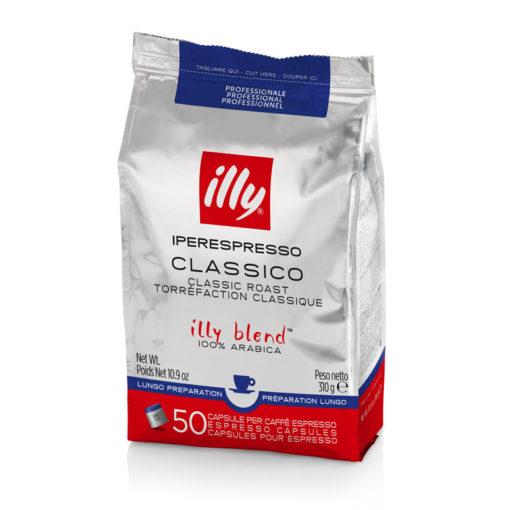 Kava v kapsulah illy Iperespresso Professional, za dolge kave, 50 kapsul