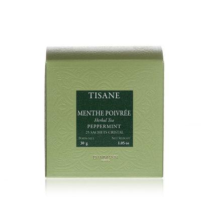 Zeliščni čaj Dammann Menthe, 25 kristalnih vrečk