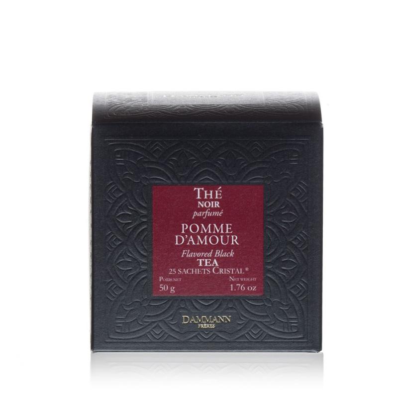 Črni čaj Dammann Pomme d'amour, 25 kristalnih vrečk