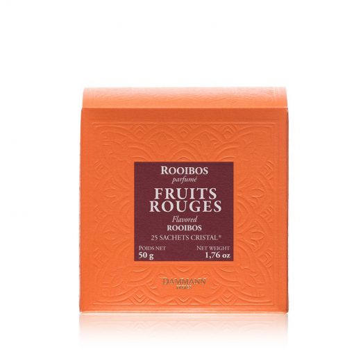 Rooibos čaj Dammann Fruits Rouges, 25 kristalnih vrečk