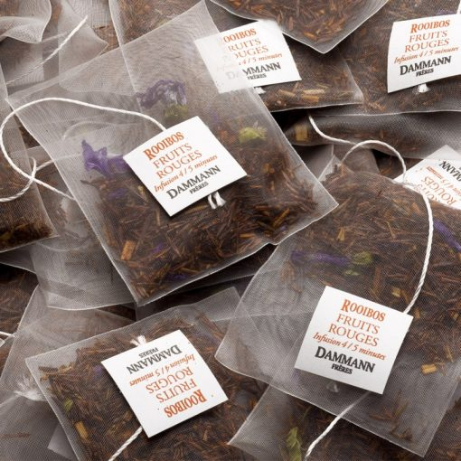 Rooibos čaj Dammann Fruits Rouges, kristalne vrečke