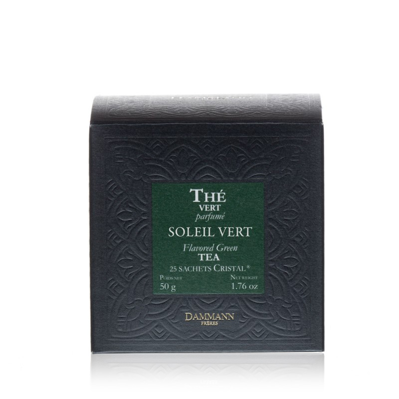 Zeleni čaj Dammann Soleil vert, 25 kristalnih vrečk