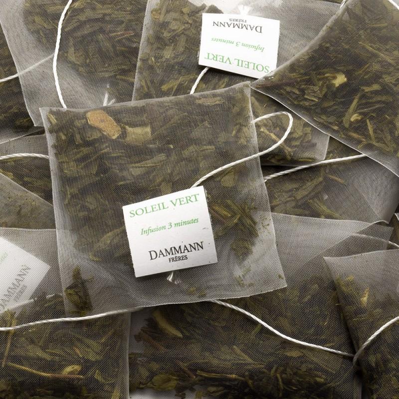 Zeleni čaj Dammann Soleil vert, kristalne vrečke