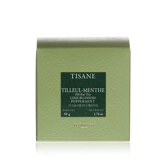 Zeliščni čaj Dammann Tilleul Menthe, 25 kristalnih vrečk