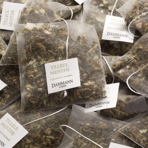 Zeliščni čaj Dammann Tilleul Menthe, kristalne vrečke