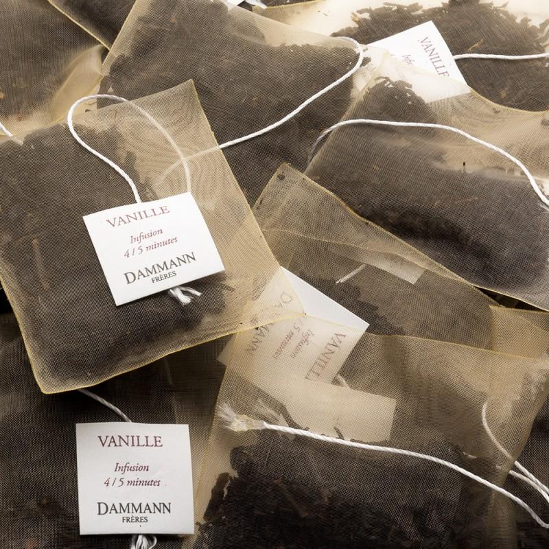 Črni čaj Dammann Vanille, kristalne vrečke