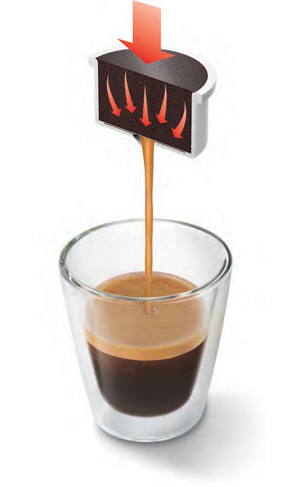 Priprava kave s kapsulo i-Espresso System