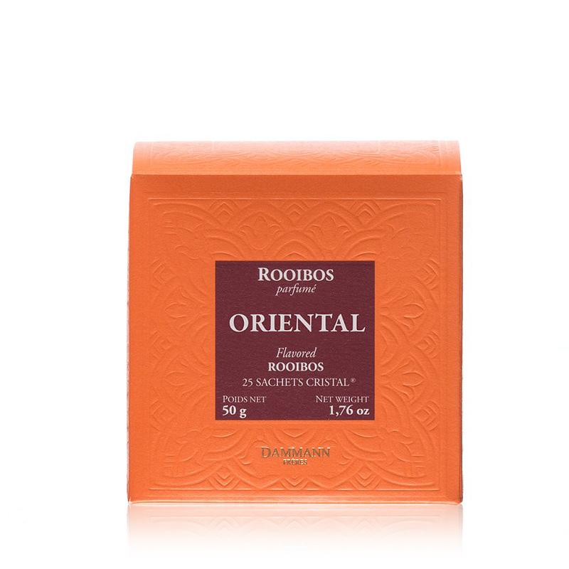 Rooibos čaj Dammann Oriental, 25 kristalnih vrečk