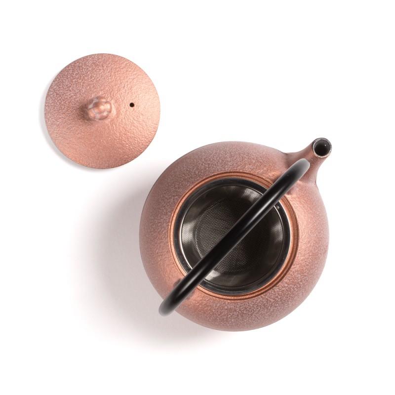 Japonski litoželezni čajnik SUIKA, bakren