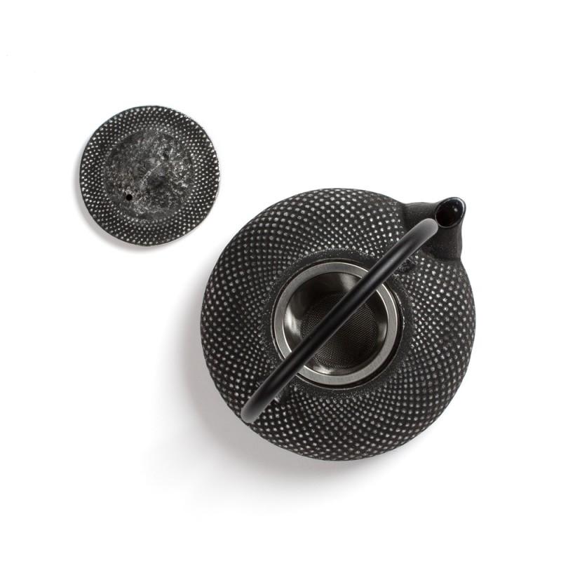 Kitajski litoželezni čajnik STEPPES, srebrn