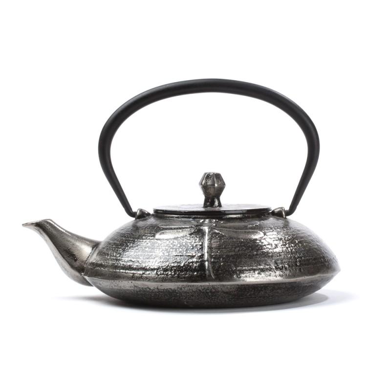 Kitajski litoželezni čajnik LIBELLULE, srebrn
