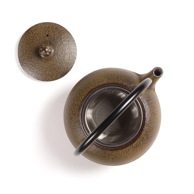 Japonski litoželezni čajnik SUIKA, rjav