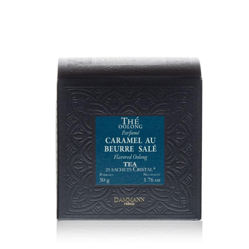 Oolong čaj s karamelo in soljenim maslom Dammann, 25 kristalnih vrečk