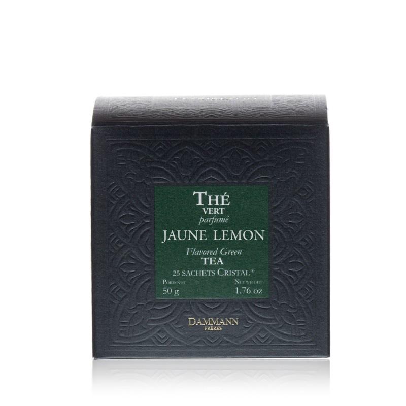 Zeleni čaj Dammann Jaune Lemon, 25 kristalnih vrečk