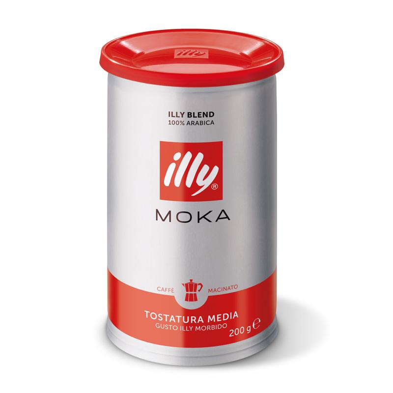 Mleta kava illy Moka, normalno pražena, mehko pakiranje, 200 g