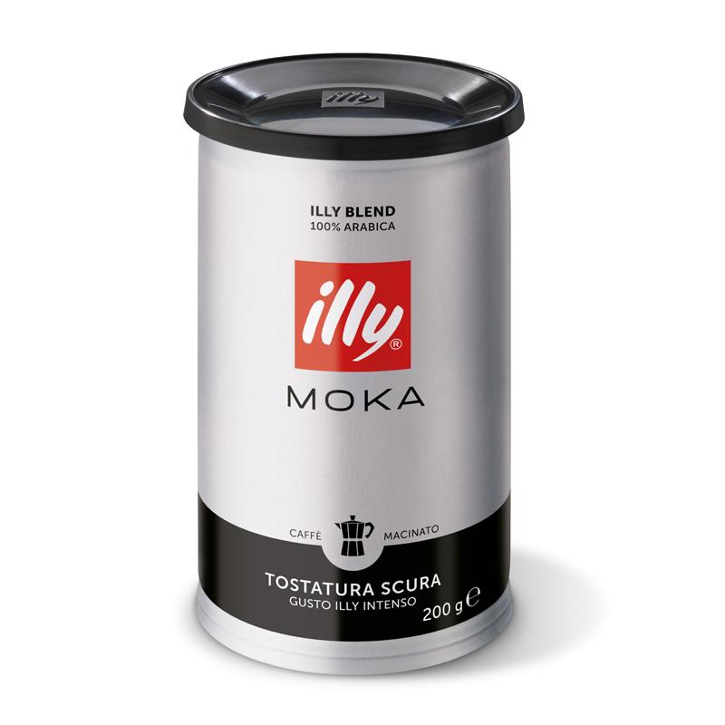 Mleta kava illy Moka, močneje pražena, mehko pakiranje, 200 g
