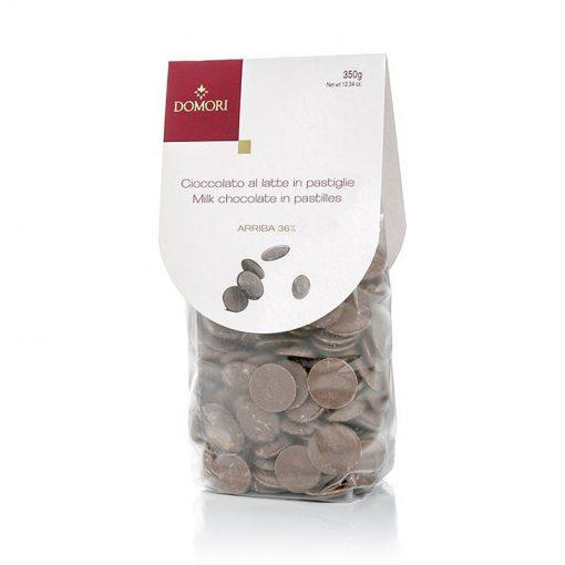 Mlečna čokolada v ploščicah Domori, 350 g