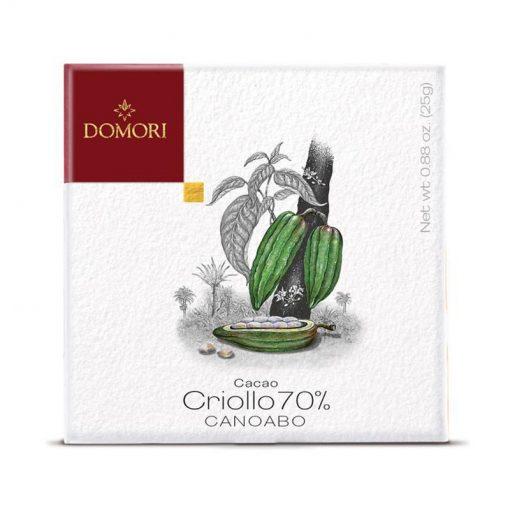 Čokolada Domori Criollo 70 % Canoabo, 25 g