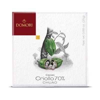 Čokolada Domori Criollo 70 % Chuao, 25 g