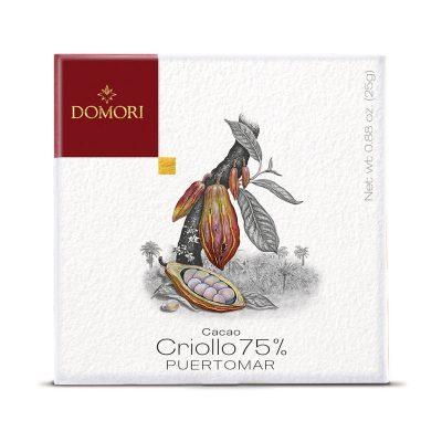 Čokolada Domori Criollo 75 % Puertomar, 25 g