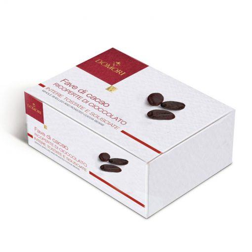 Pražena kakavova zrna v čokoladi Domori, 100 g