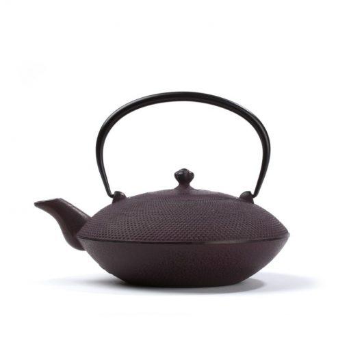 Japonski litoželezni čajnik MAYUMI, vinsko rdeč, 0,85 l