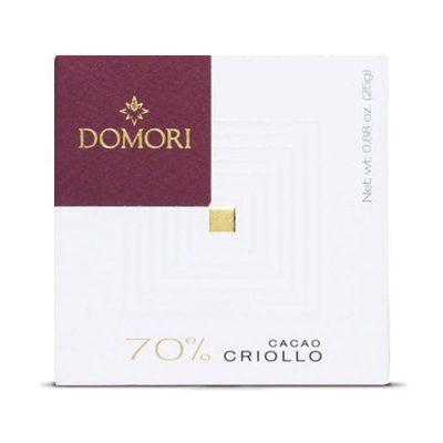 Čokolada Domori Criollo 70 %, 25 g
