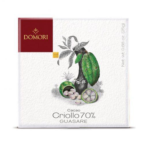 Čokolada Domori Criollo 70 % Guasare, 25 g