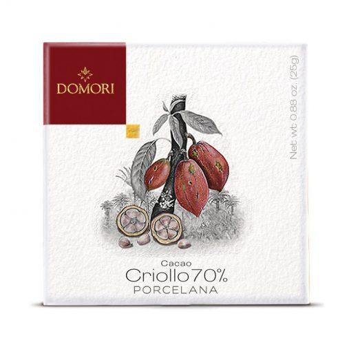 Čokolada Domori Criollo 70 % Porcelana, 25 g
