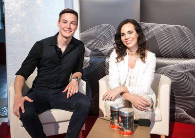 Peter Škulj (Espreso) in Lorella Flego