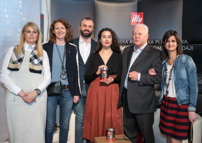 Mateja Šenkinc (Espresso), Antonella Skerlavaj (illycaffè), Darko Čuturić (illycaffè), Viviana Rea Doričić, Božan Jejčič (Espresso) in Valentina Scottani (illycaffè)