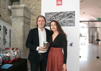 Carlo Bach (illycaffè) in zmagovalka Viviana Rea Doričić