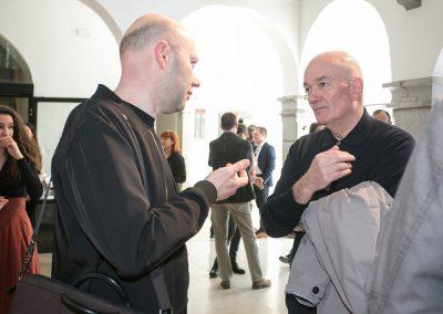 izr. prof. Jure Miklavc (ALUO) in doc. Leon Belušič (FA)