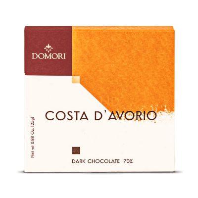 Bio temna čokolada Domori Costa d'Avorio, 25 g