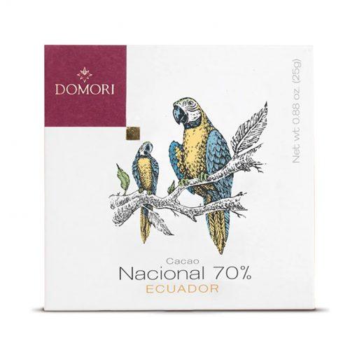 Temna čokolada Domori Nacional 70%, 25 g