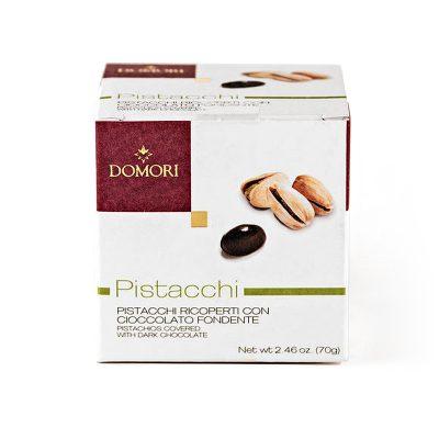 Domori Pistacchi - pistacije, oblite s temno čokolado, 70 g