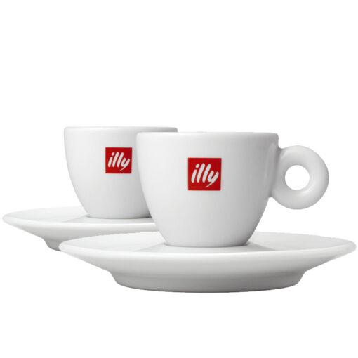 Komplet dveh illy skodelic za espresso
