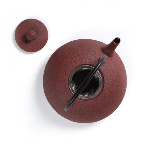 Japonski čajnik Muji, rdeč